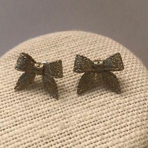 Vintage bow earrings